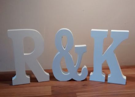 Extra Large wooden letters with & sign,20cm  wooden numbers WEDDING GIFT